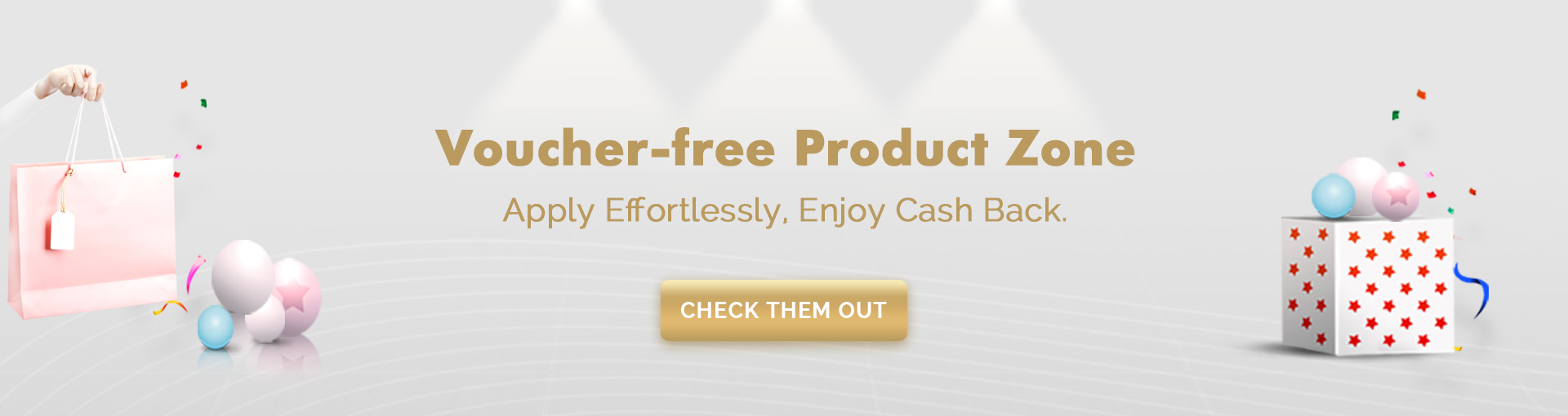 Voucher-free Product zone